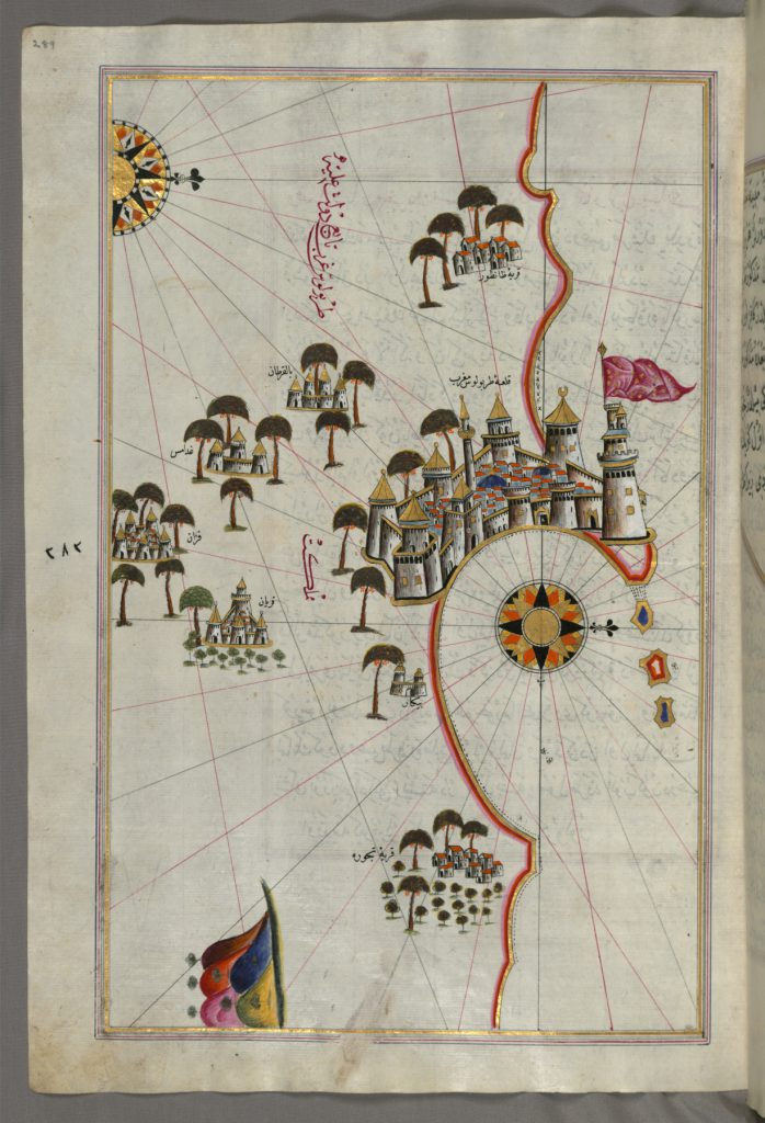 Piri_Reis_-_Map_of_the_Fortress_of_Tripoli_and_the_Surrounding_Area_-_Walters_W658289A_-_Full_Page (1)